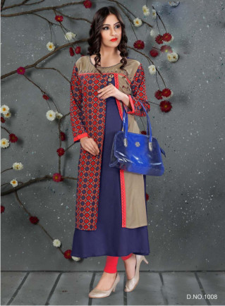 SC SANVI 01-D NO 8 STYLISH WOMEN KURTY