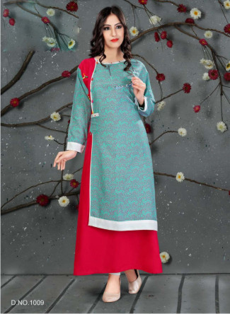SC SANVI 01-D NO 9 STYLISH WOMEN KURTY
