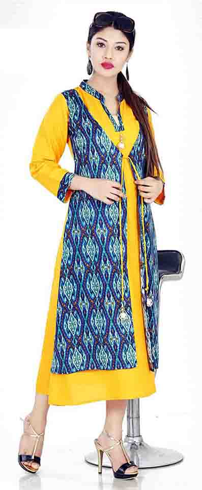 SC SHIVANGI 01-D NO 1 STYLISH RAYON KURTI WITH JACKET