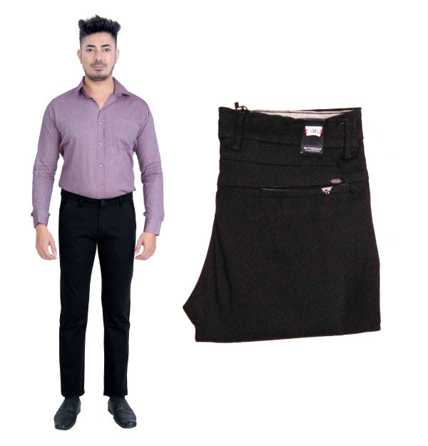 UTD FANCY 1629-BLACK CASUAL TROUSER