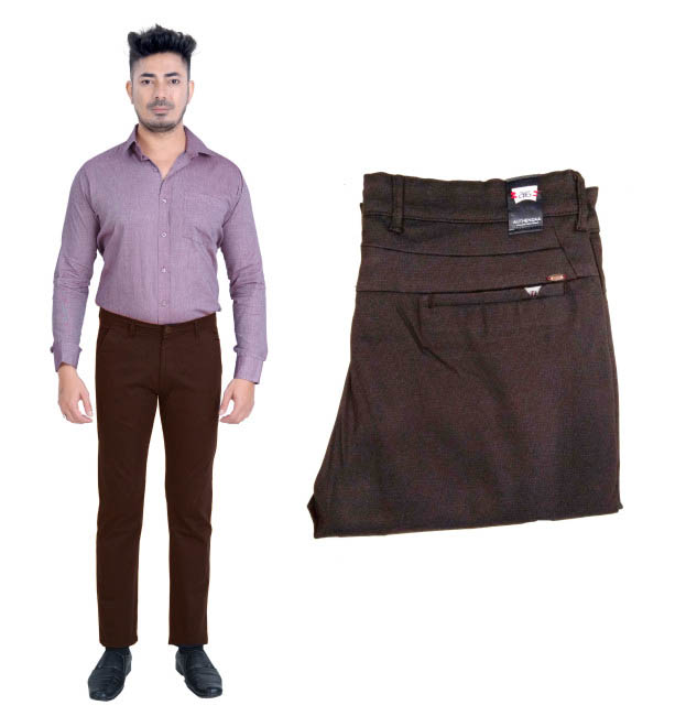 UTD FANCY 1629-COFFEE CASUAL TROUSER