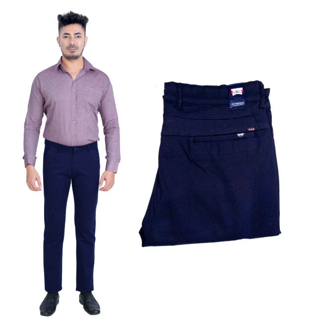 UTD FANCY 1629-BLUE CASUAL TROUSER