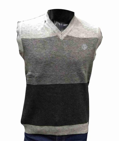 Sleeveless  Gray V Neck  Logo R Sweaters