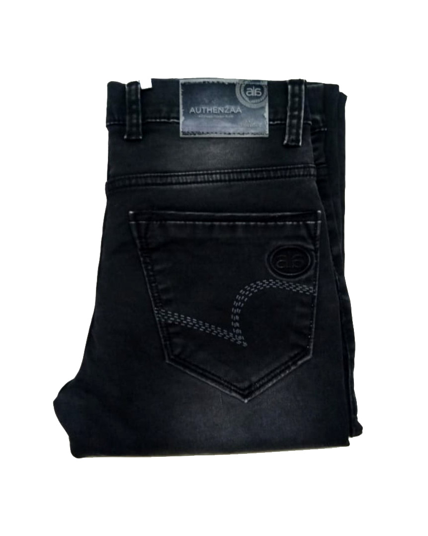 UTD D VIRAT-BLACK KNITTED DENIM
