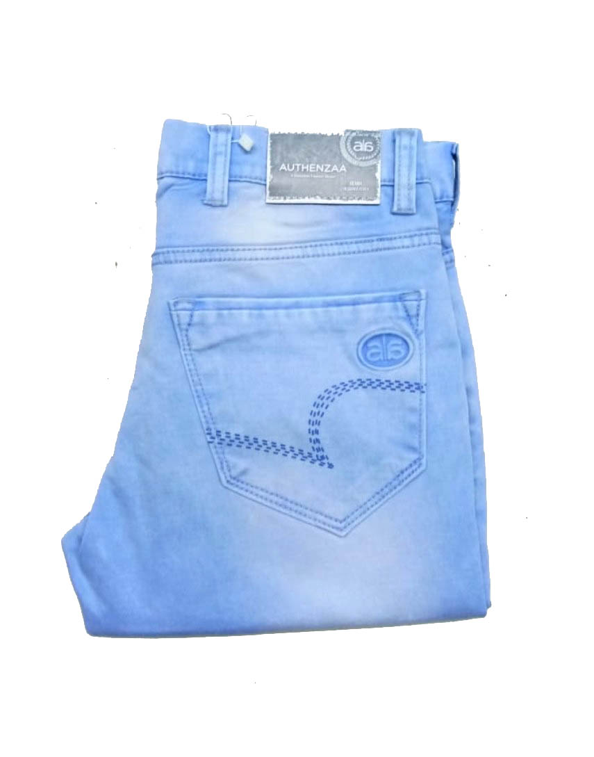 UTD D VIRAT-SKY BLUE KNITTED DENIM
