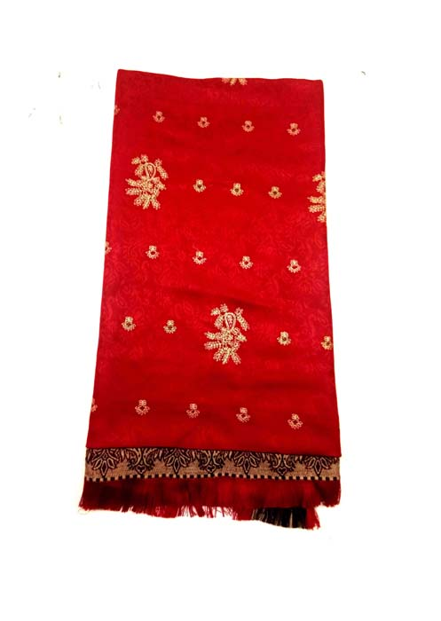 WOMEN SHAWL-RED-WSWL 370 D NO 4